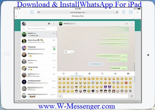 WhatsApp For iPAD Download Install WhatsApp on iPad